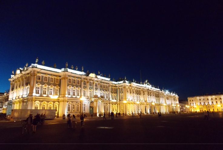 hermitage by night